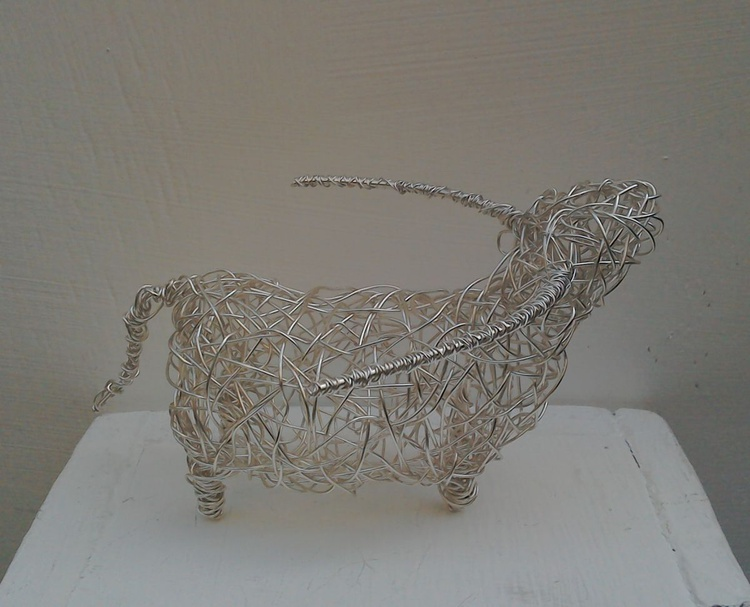Small Silver Highland Cow - Image 0
