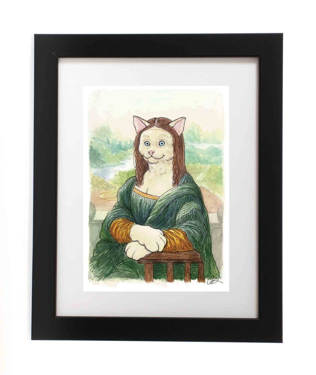 Meowing Lisa (Ready Framed) - Image 0