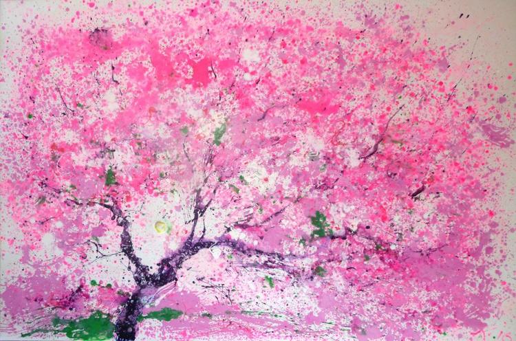 Sakura, large painting 180x120 cm - Image 0
