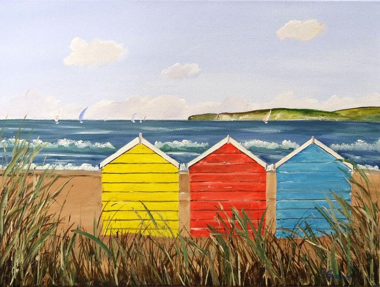 Summertime beach huts - Image 0