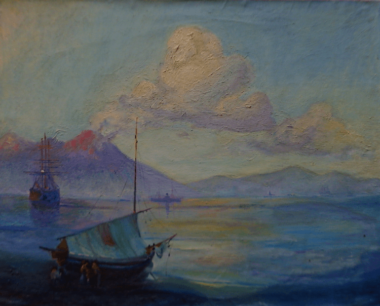 The bay of Naples at the morning (reproduction) - Image 0