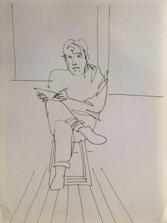 Self-portrais, Passage Charles-Albert, #8, 32x24 cm - Image 0