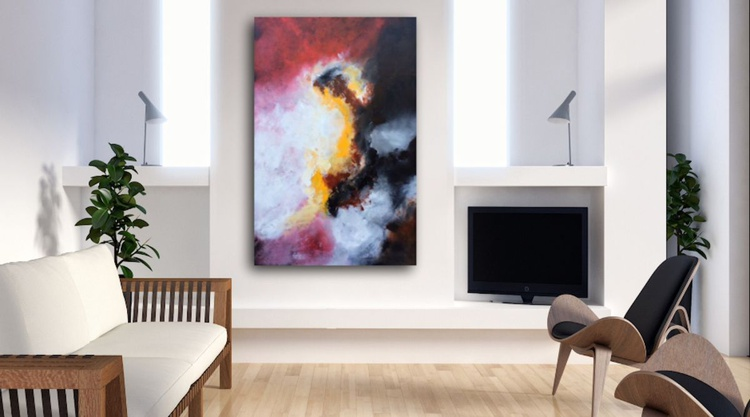 """""""Energetic""""  , 32x48inches// Lryical abstract painting // original painting // - Image 0"""