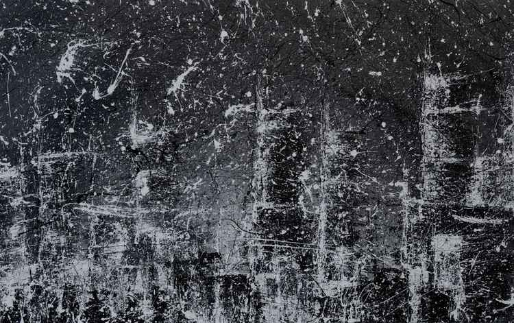 Snow Over A City -