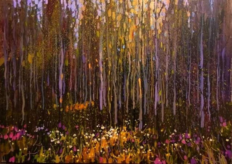 sunny forest, original painting - Image 0