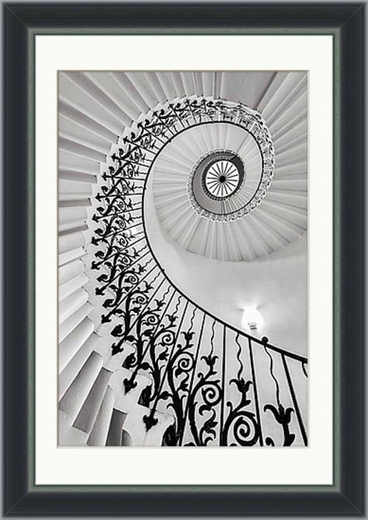 "The Queen's House Tulip Staircase, London  - 12x18"" Limited Edition Framed Print - Image 0"