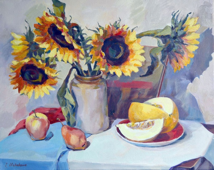 Sunflowers And Melon - Image 0