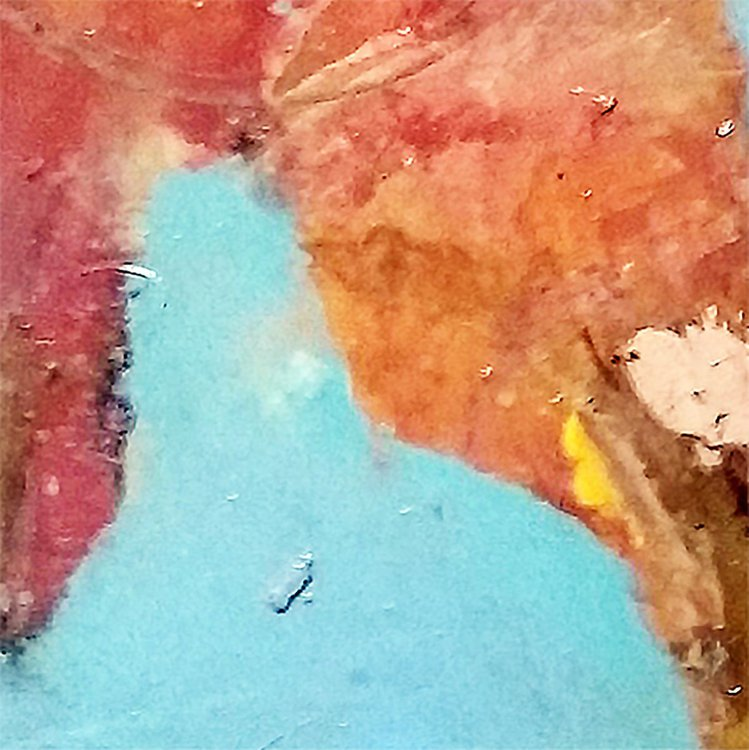 """Swallow Over City"" - Close-up detail (artwork)"