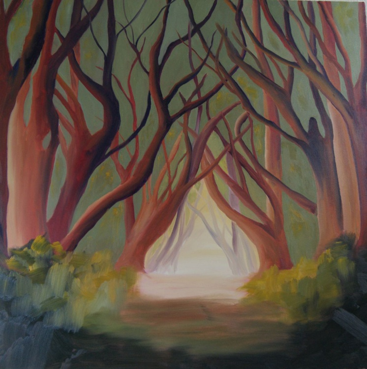 Silence- Treescape  (Very Large Square Painting) - Image 0