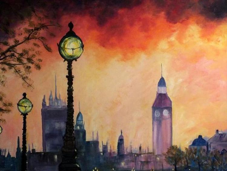 "London Heartbeat (Large Panoramic 48""x36"") - Image 0"