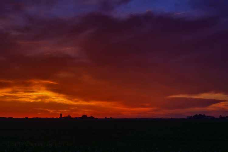 At Twilight on the Vast and Lonely Prairie -