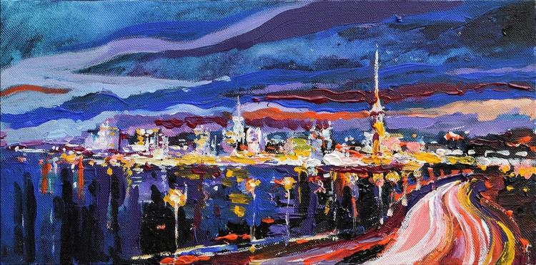 Сity Night Lights painting - Image 0