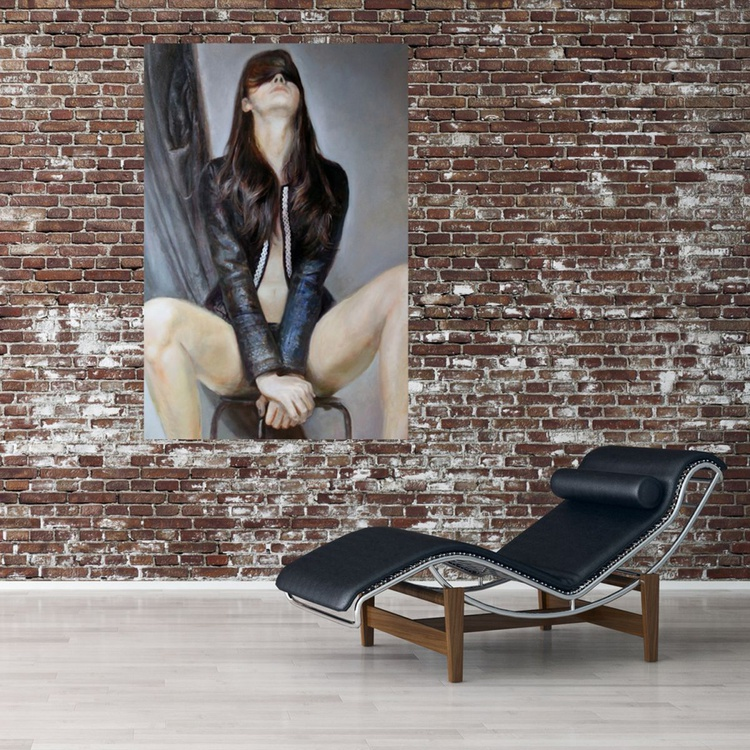 Treasure on a stool 120x 80cm - Image 0