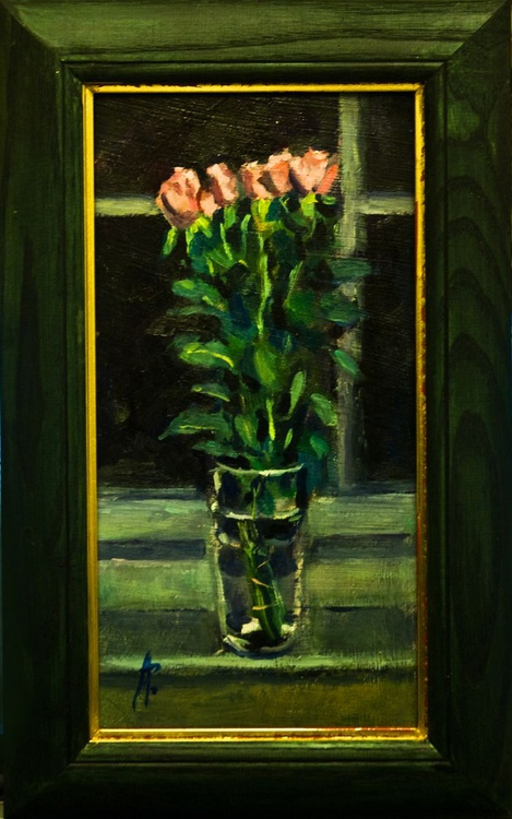 Roses on Sill - Image 0