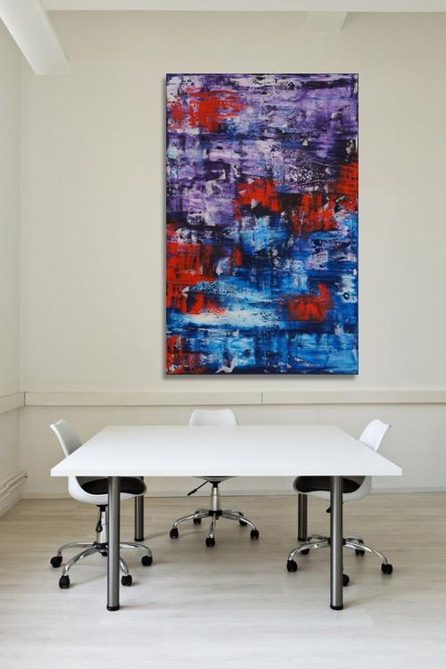 Violent Red (116 x 75 cm) - Image 0