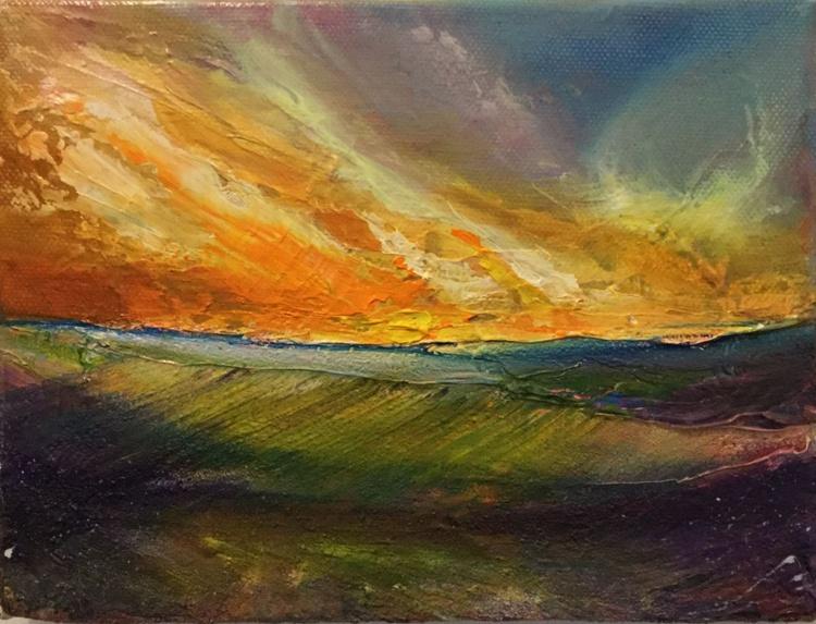 Northumbrian sunset - Image 0