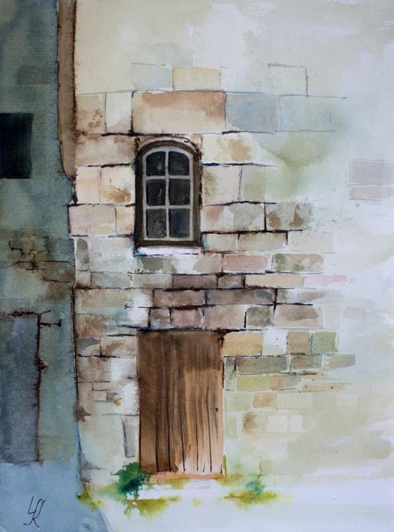 """Window"", original watercolour painting, 11.8""x 15.7""(30x40cm), ready to hang - Image 0"