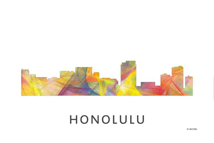 Honolulu Hawaii Skyline WB1 -