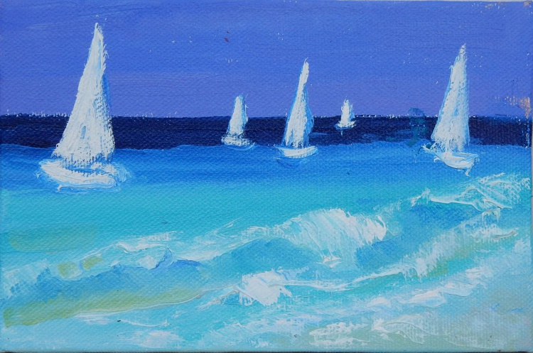 Seascape. Sailboats - Image 0