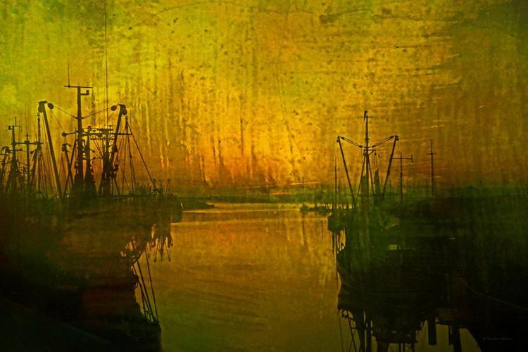 -Homage to John Atkinson Grimshaw - Canvas 75 x 50 cm - Image 0