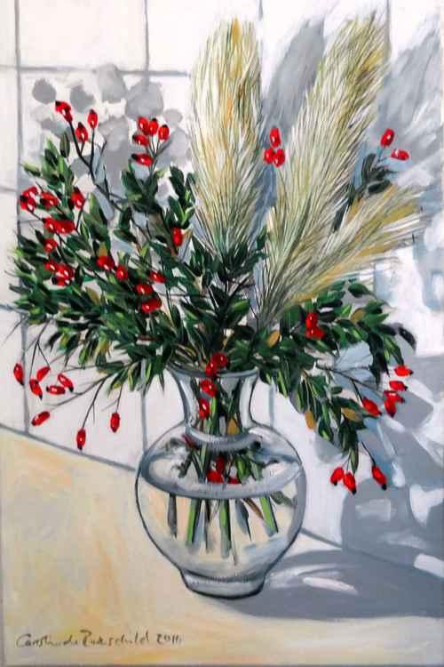 Pampas Grass & Rosehips -