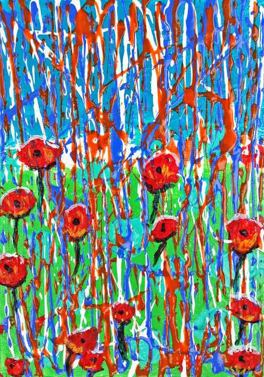 Rain on the Poppies 2