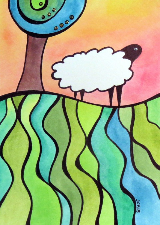 Sheep On A Hill: #2 - Image 0