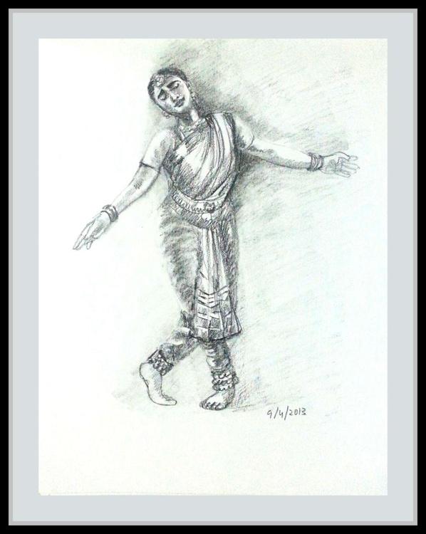 "Indian dancer 4- 8.25""x 11"" - Image 0"