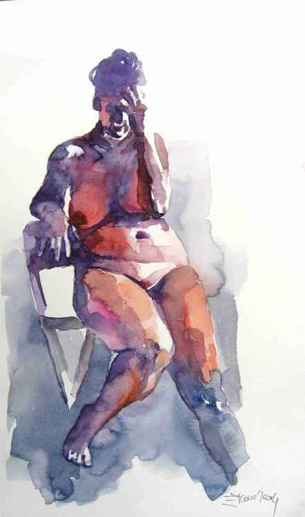 nude sitting -