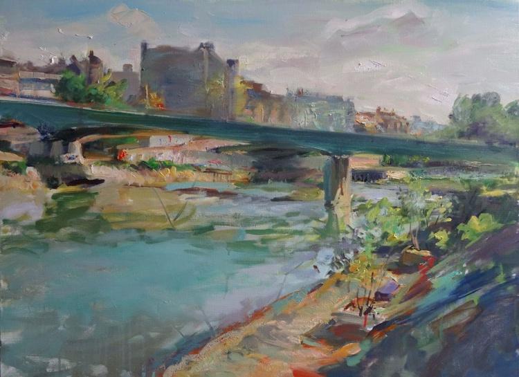 Le pont du métro et la Marne, Charenton - Image 0