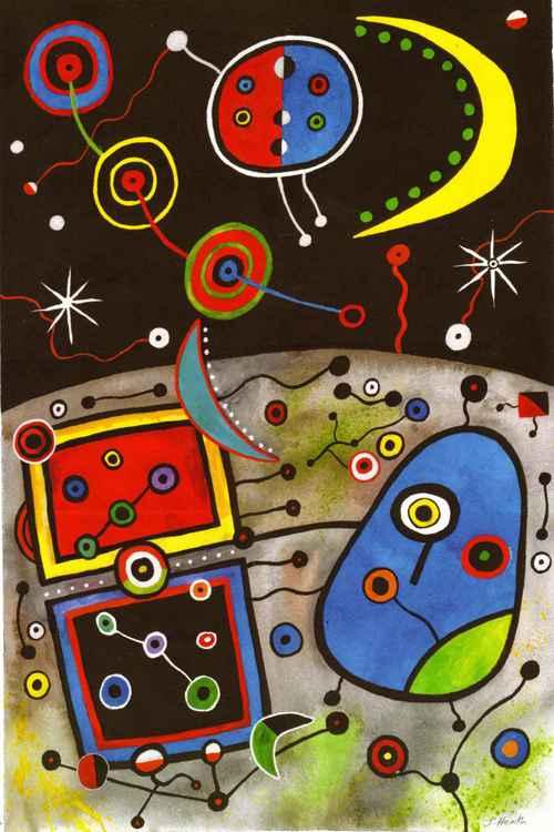 Rock Art (after Miro)