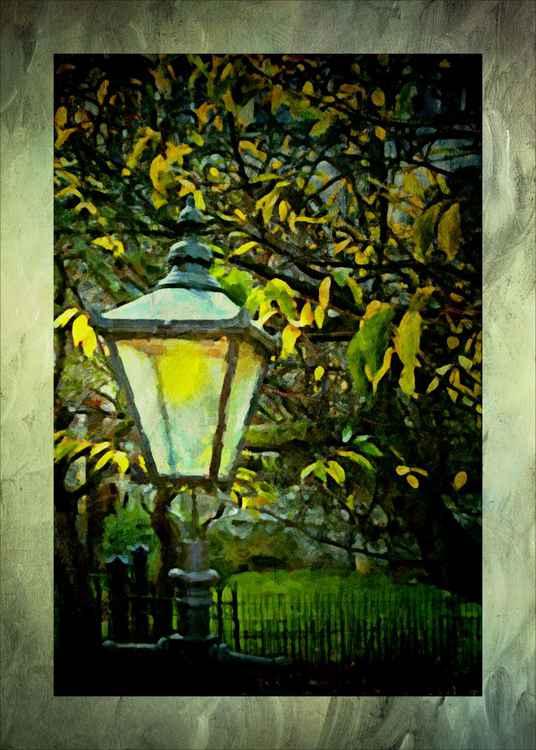 Painted Street Lamp -