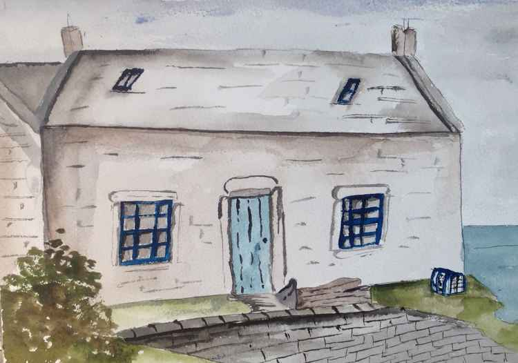 Fisherman's cottage, cove, Scottish Borders