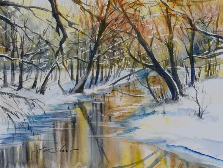 Winter river -