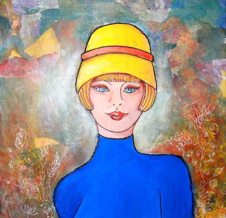 Lady with the Yellow Hat -