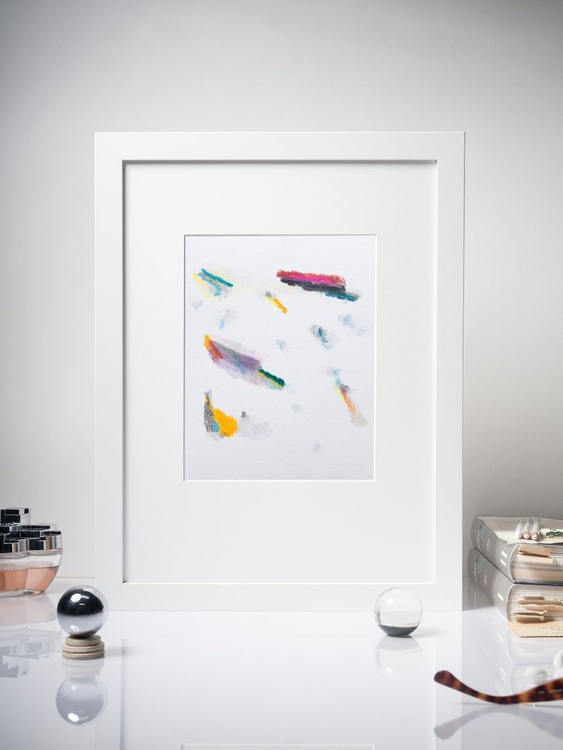 Color Interactions #04 - Contemporary Spot Painting -  Framed 30x40cm - Image 0