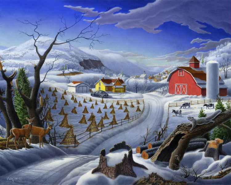 Rural Winter Landscape -