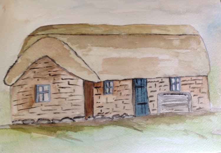 Leans his cottage, culloden battlefield -