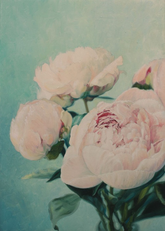 Etude with peonies - Image 0