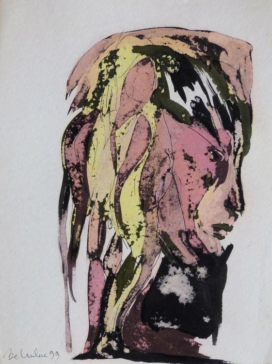 Surrealist Portrait, 36x48 cm - Image 0