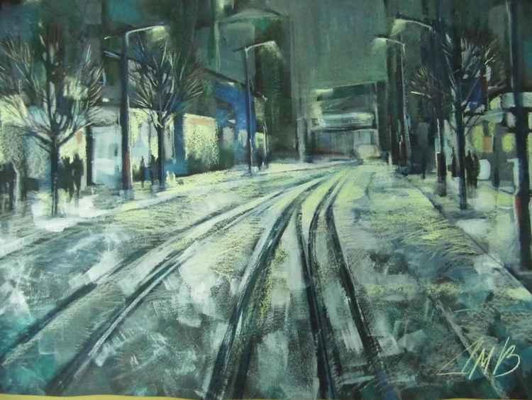 Lighted street