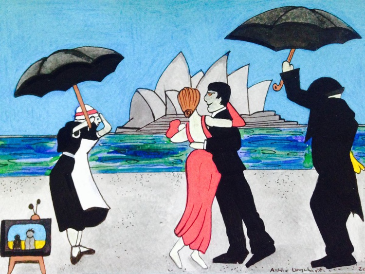 The Singing Butler, down under. - Image 0