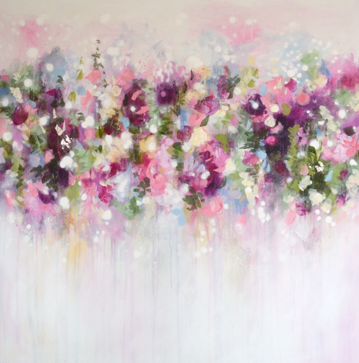 Floral Symphony - Large Original Abstract Painting - Image 0