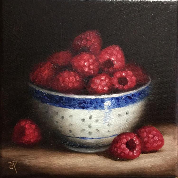 Bowl of Raspberries - Image 0