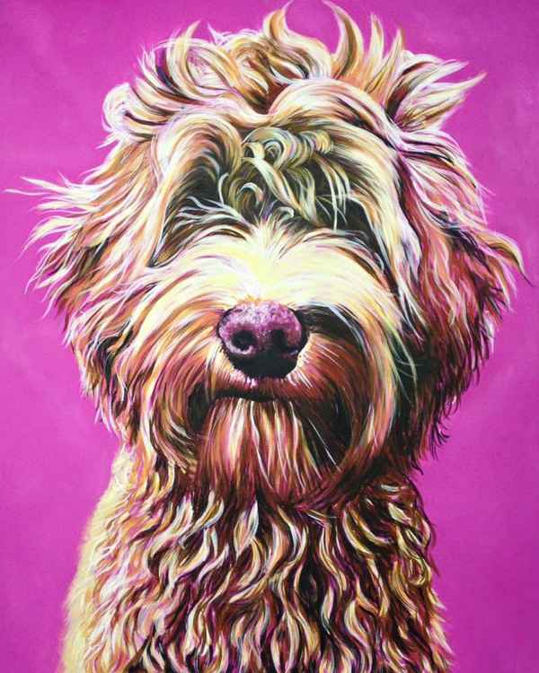 Original Painting of 'Doodle' by Kirstin Wood -