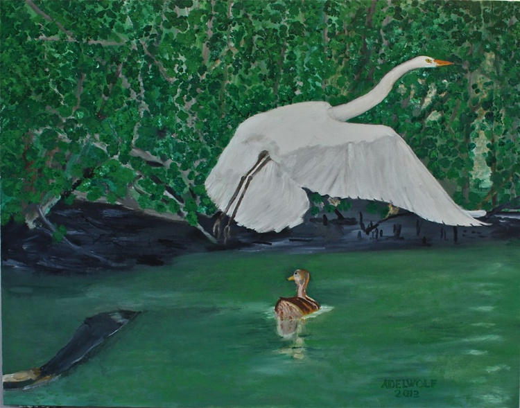 Egret & Duck Spirit 2 - Image 0