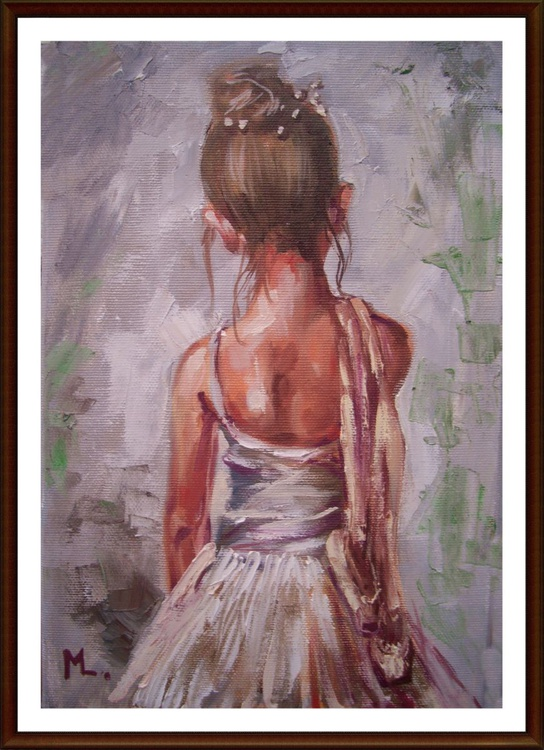 """ LITTLE BALLERINA "" original painting palette knife GIFT MODERN URBAN ART OFFICE ART DECOR HOME DECOR GIFT IDEA - Image 0"