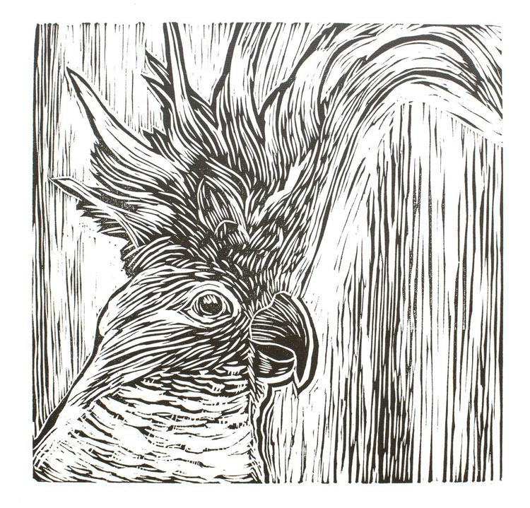 Cockatoo - lino cut print - Image 0
