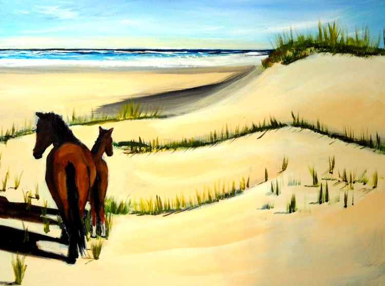 Wild Horses on the Outer Banks - Image 0
