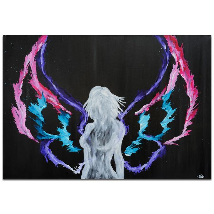 Mendo Vasilevski 'Urban Angel' Contemporary Metal Wall Art Giclee - Image 0